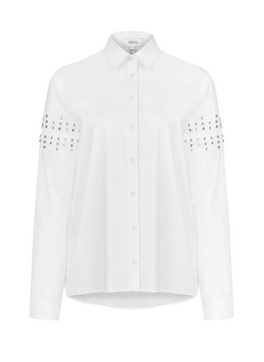 Kristal Taş Baskılı Gömlek-Ipekyol